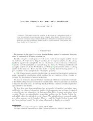 VOLUME, DENSITY AND WHITNEY CONDITIONS 1. Introduction ...