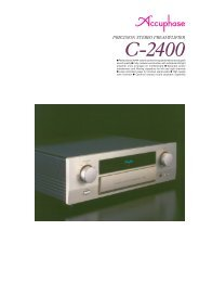 m Revolutionary AAVA volume control for top ... - Accuphase