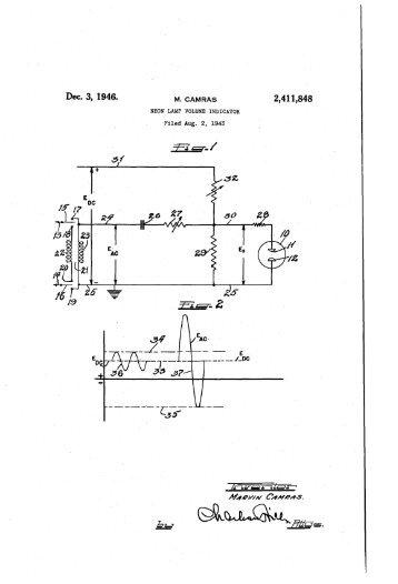NEON LAMP VOLUME INDICATOR
