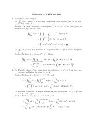 Assignment 5 (MATH 215, Q1) 1. Evaluate the triple integral. (a ...