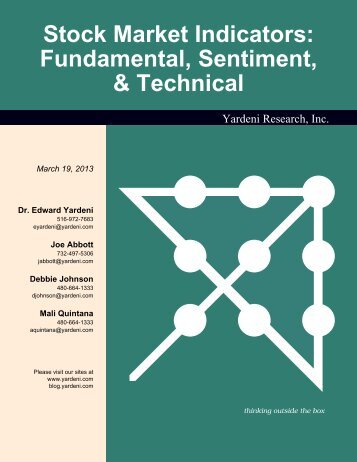 Stock Market Sentiment & Technical Indicators - Dr. Ed Yardeni's ...