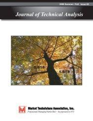 Journal of Technical Analysis - Market Technicians Association