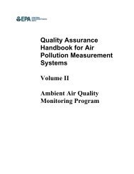 Quality Assurance Handbook for Air Pollution Measurement Systems