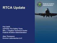RTCA Background - Fire Safety Branch - FAA