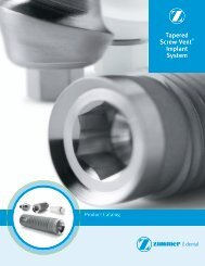 Tapered Screw-Vent® Implant System - Zimmer Dental