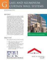 LASS AND ALUMINUM CURTAIN WALL SYSTEMS - SCHL