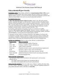 Polycythemia/Hyperviscosity
