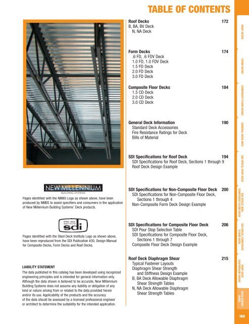 Metal Decking Design Guide New Millennium Building Systems