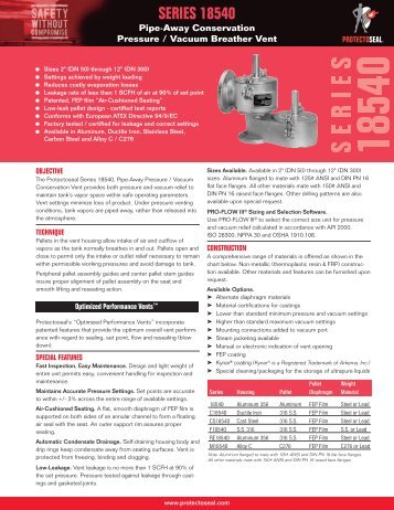 Product Specification Sheet - Protectoseal