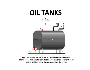 OIL TANKS TANKS - Allsafe Home Inspection Service, Inc.