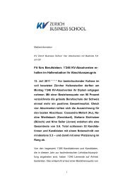 1'246 KV-Absolventen er - KV Zürich Business School