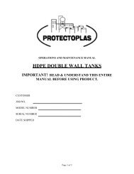 hdpe double wall tanks important! read & understand ... - Mix Tanks