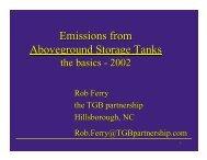 Emissions from Aboveground Storage Tanks - The TGB Partnership