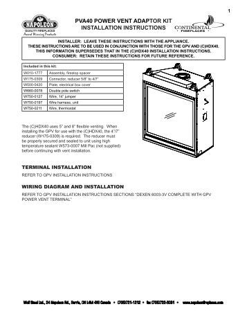 pva36 power vent adaptor kit installation pva40 power vent adaptor kit installation instructions continental