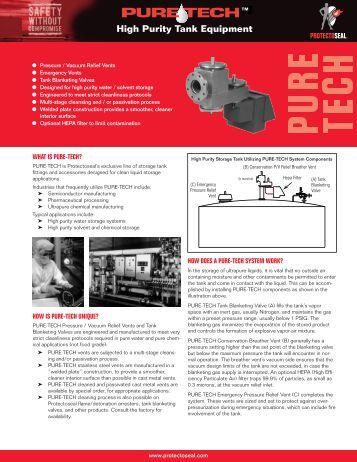 PURETECH High Purity Tank Equipment - Protectoseal