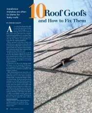 10 Roof Goofs and How to Fix Them - Fine Homebuilding