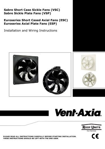 Installation and Wiring Instructions - Vent-Axia