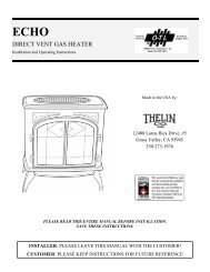 DIRECT VENT GAS HEATER - Thelin Hearth Products