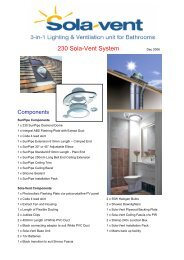 Sola-Vent Installation Instructions