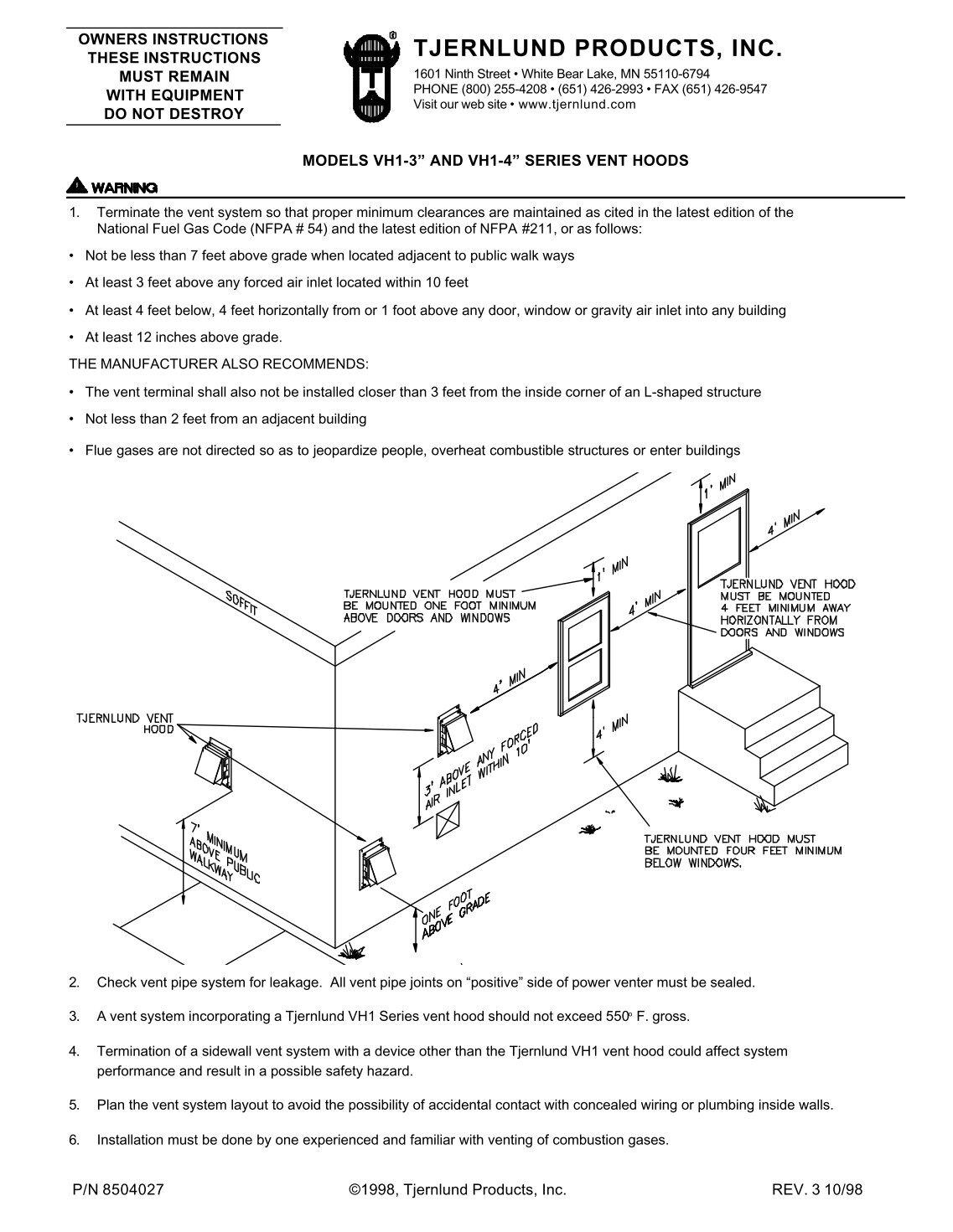 Wiring Diagrams Mercedes Vito Product Hornby Point Motor Tjernlund Vh1 4 Vent Hood Products