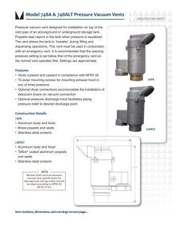Series 7800 End Of Line Emergency Pressure Vent Protectoseal