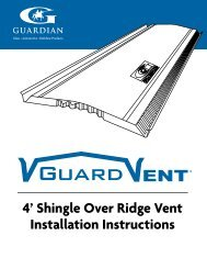 4' Shingle Over Ridge Vent Installation Instructions - Guardian ...