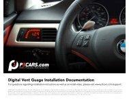 Digital Vent Guage Installation Documentation - BurgerTuning.com
