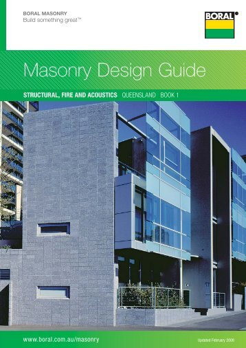 Masonry Design Guide - Boral