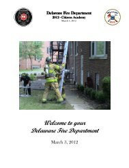 Welcome to your Delaware Fire Department