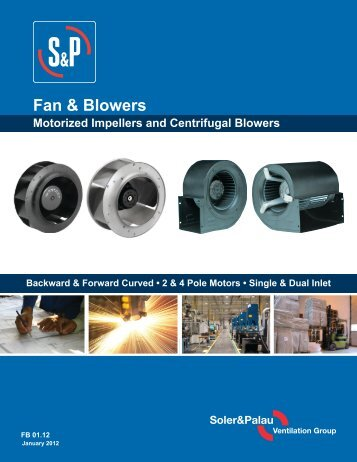 Fans and Blowers Brochure - Soler-palauinc.com