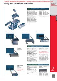 Flashings Roof and Cavity Ventilation - Barbour Product Search