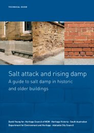 Salt attack and rising damp - Department of Planning and ...