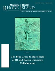 The Blue Cross & Blue Shield of RI and Brown University ...