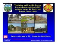 Ventilation and Humidity Control in Army Barracks Using DOAS for ...