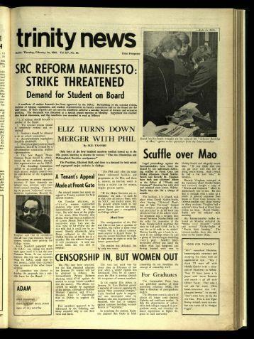 src reform manifesto: stri th reate ned - Trinity News Archive