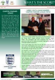 Surrey Youth League News Report