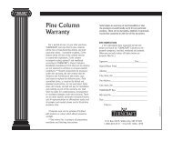Pine Column Warranty - Turncraft