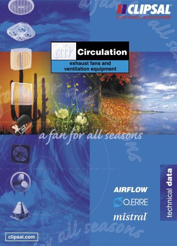 Air Circulation, Exhaust Fans and Ventilation Equipment ... - Clipsal