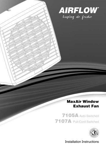 Installation Instructions - F1697/03 - 7105A, 7107A MaxAir ... - Clipsal