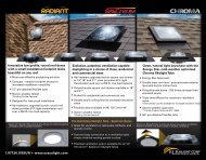 Innovative low-profile, round roof dome with a ... - US Sunlight Corp