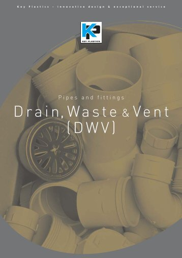 Plastic waste pipe and fittings