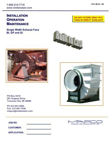 Commercial Kitchen Exhaust Fans Spring Air Systems Inc