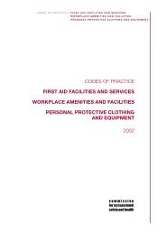 codes of practice first aid facilities and services workplace amenities ...