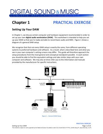 Chapter 1 PRACTICAL EXERCISE Setting Up Your DAW