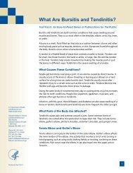 What Are Bursitis and Tendinitis? - National Institute of Arthritis and ...