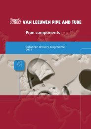 Pipe Components 2011 - Van Leeuwen Buizen