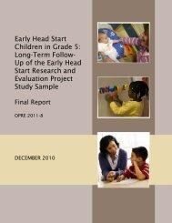 Early Head Start Children in Grade 5: Long-Term Follow-Up of the ...