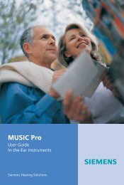 Music Pro User Guide ITE - Siemens Hearing Instruments