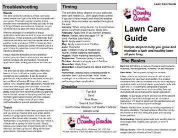 Lawn Care Guide - Minter Gardens