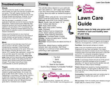Lawn Care Guide - Minter Gardens